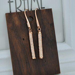 Henri Bendel Zircon Cylindrical Earrings